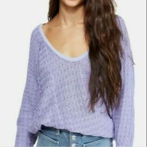 Free People Thien's Hacci Top Lightweight Sweater